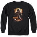 Ninjak adult crewneck sweatshirt Fiery Ninjak black