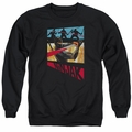 Ninjak adult crewneck sweatshirt Panel black