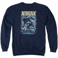 Ninjak adult crewneck sweatshirt Rainy Night Ninjak navy