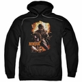 Ninjak pull-over hoodie Fiery Ninjak adult black