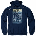 Ninjak pull-over hoodie Rainy Night Ninjak adult navy