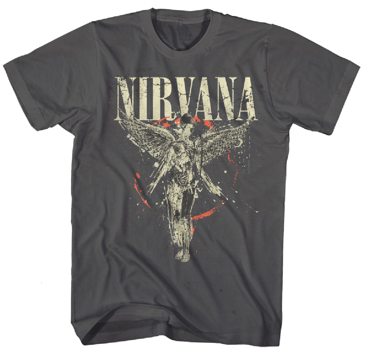 nirvana galaxy in utero men asphalt t shirt at urban collector. Black Bedroom Furniture Sets. Home Design Ideas
