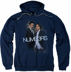 Numb3Rs pull-over hoodie Don & Charlie adult navy