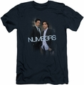 Numb3Rs slim-fit t-shirt Don and Charlie mens navy