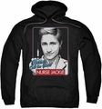 Nurse Jackie pull-over hoodie Nurses Call The Shots adult black