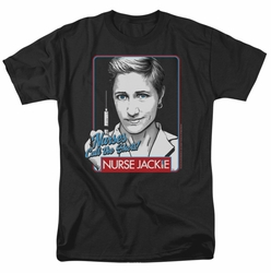 Nurse Jackie t-shirt Nurses Call The Shots mens black