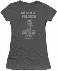 Old School juniors t-shirt Mitchapalooza charcoal