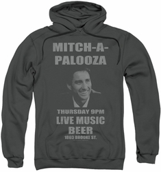 Old School pull-over hoodie Mitchapalooza adult charcoal