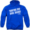 Old School pull-over hoodie My Boy Blue adult royal blue