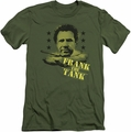 Old School slim-fit t-shirt Frank The Tank mens military green