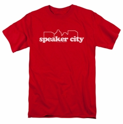 Old School t-shirt Speaker City Logo mens red