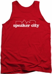Old School tank top Speaker City Logo mens red