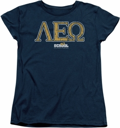 Old School womens t-shirt Leo navy