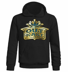 Outkast hoodie Gold Crown Logo mens black