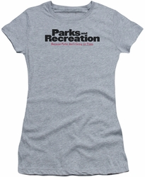 Parks & Rec juniors t-shirt Logo heather