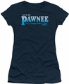 Parks & Rec juniors t-shirt Pawnee navy