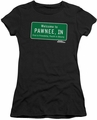 Parks & Rec juniors t-shirt Pawnee Sign black