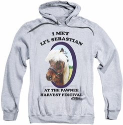 Parks & Rec pull-over hoodie Lil Sebastian adult athletic heather