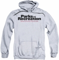 Parks & Rec pull-over hoodie Logo adult athletic heather