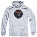 Parks & Rec pull-over hoodie Mouse Rat Circle adult athletic heather
