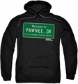 Parks & Rec pull-over hoodie Pawnee Sign adult black
