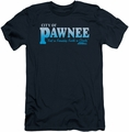 Parks & Rec slim-fit t-shirt Pawnee mens navy