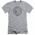 Parks & Rec slim-fit t-shirt Pawnee Seal mens athletic heather