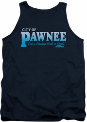 Parks & Rec tank top Pawnee mens navy