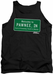 Parks & Rec tank top Pawnee Sign mens black