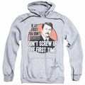 Parks & Recreation pull-over hoodie Don't Screw Up adult athletic heather