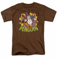 Penguin t-shirt Stars mens coffee