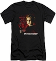 Pet Sematary slim-fit t-shirt I Want To Play mens black