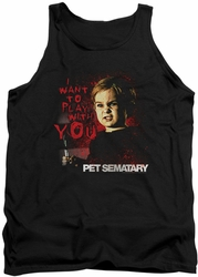 Pet Sematary tank top I Want To Play mens black