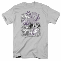 Phantom t-shirt Ghostly Collage mens silver