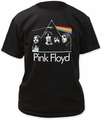Pink Floyd Dark Side On The Moon With Band Adult t-shirt pre-order