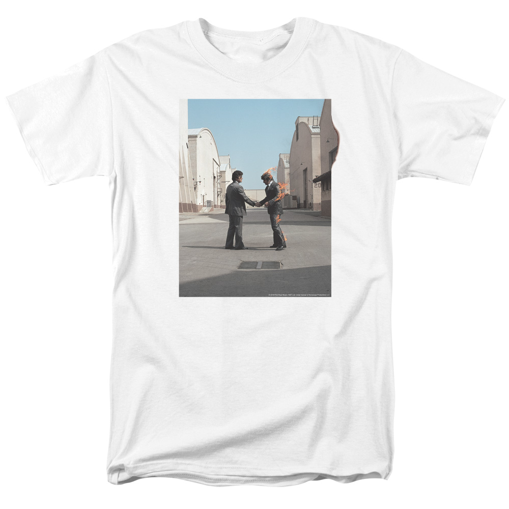 pink floyd t shirt wish you were here mens white. Black Bedroom Furniture Sets. Home Design Ideas