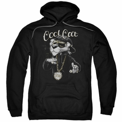 Pink Panther pull-over hoodie Cool Cat adult Black