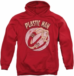 Plastic Man pull-over hoodie Bounce adult red