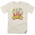Plastic Man t-shirt Stars mens cream