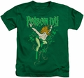 Poison Ivy kids t-shirt DC Comics kelly green