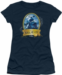 Polar Express juniors t-shirt True Believer navy
