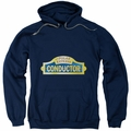 Polar Express pull-over hoodie Conductor adult navy