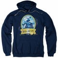 Polar Express pull-over hoodie True Believer adult navy