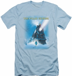 Polar Express slim-fit t-shirt Big Train mens light blue
