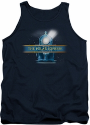 Polar Express tank top Train Logo mens navy