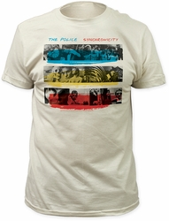 Police synchronicity fitted jersey tee vintage white t-shirt pre-order
