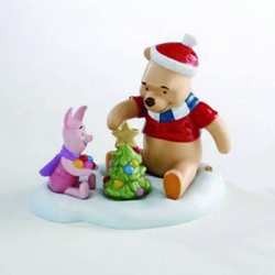 Pooh & Friends Pooh And Piglet W/ Tree Figurine