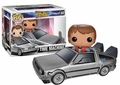 Pop Rides Back To The Future Delorean With Marty Vinyl Figure