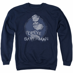 Popeye adult crewneck sweatshirt Original Sailorman navy