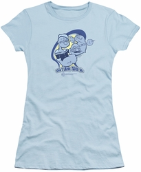 Popeye juniors t-shirt Don't Mess With Me light blue